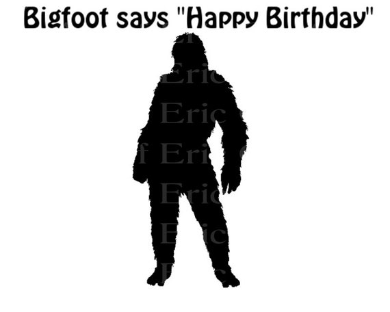 Bigfoot Yeti Happy Birthday - Edible Cake and Cupcake Topper For Birthday's and Parties! - D22986