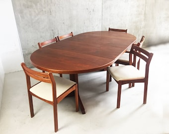 Mid Century Danish teak dining table and chairs