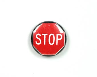 1 Inch Pinback Button - Stop Sign Designer Pin