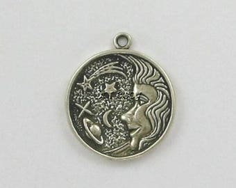 Sterling Silver Night Sky Charm or Pendant