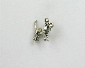 Sterling Silver 3-D Beagle Charm