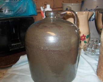 Antique Vintage Primitive Stoneware Jug, WAS 25.00 - 50%= 12.50
