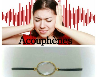 Tinnitus Bracelet: rock crystal