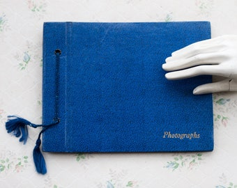 Blue Photo Album - Vintage Scrapbooking Book