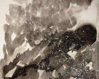 Storm - Landscape ink on paper, 20X20cm
