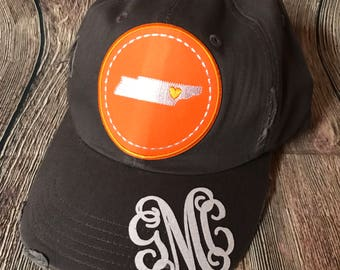 Tennessee distorted hat woth monogram