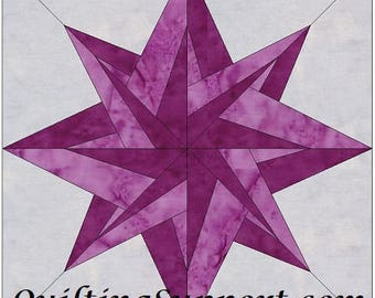 HC Northstar 10 Inch Paper Foundation Quilting Block Pattern
