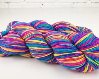 "Smooshy Sparkle Sock hand dyed yarn - ""My Candy Crush Addiction"""