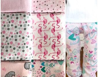 18 inch doll pajama party pack | 6 pajamas pants | pink pajamas