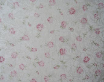 "Half Yard of Quilt Gate Mary R Premier (Jacquard fabric) Small Rose Buds on Cream Background. Approx. 18"" x 44"" Made in Japan"