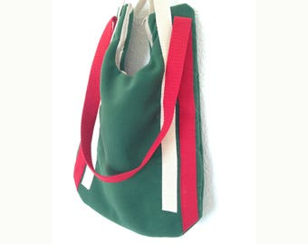 MIlan Handmade Fabric Bag with Handle, Strap and Zip