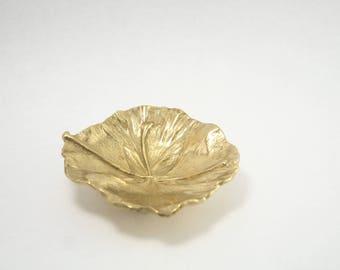 Brass Oskar J.W Hansen Ginko Leaf Dish