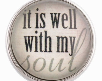 C0061  Art Glass Print Chunk - It Is Well With My Soul
