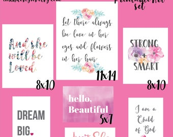 INSTANT DOWNLOAD Girl PRINTABLE Art Set