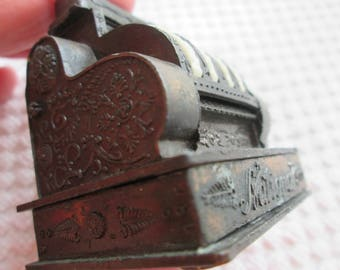 Miniature antique cash register. Cash register pencil sharpener. Antique pencil sharpener.  National Cash Register. Great Father's Day gift