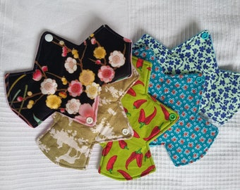 REGULAR absorbency cloth pad, 8 and 3/4 inches