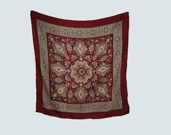 Ornate square scarf