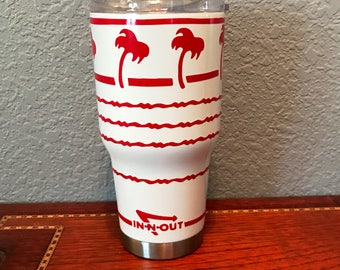 In n Out Inspired Stainless Steel Tumbler