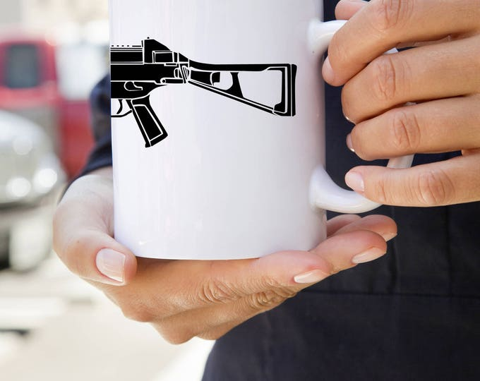 KillerBeeMoto:  U.S. Made UMP 45 Sub Machine Gun Coffee Mug