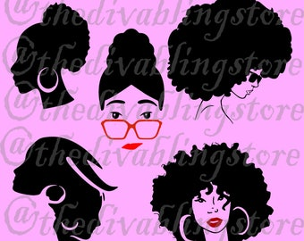 Afro Centricl Hair  SVG File
