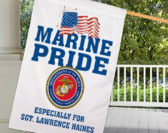 Personalized Military House Flag