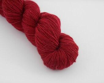 PETILLANTE SOCK,  Rubis, merino nylon sock yarn ,100g
