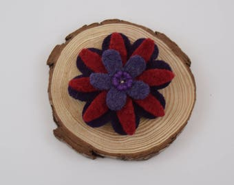 Barrette - Wool Barrette - Gift for Girls - Felt Barrette - Girls Barrettes - Hair Accessories