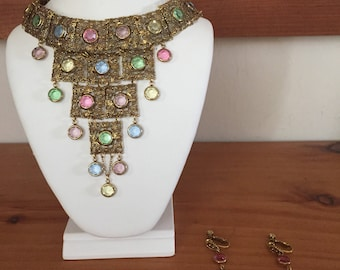 Vintage 1960's Waterfall Style Costume Jewelry Set
