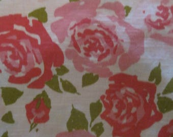 Morgan Jones Bedspread, Twin, Coverlet, Roses, Romantic, Cream and ,Vintage, Collectible