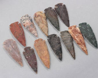 80mm Big Carved Arrow Pendants -- Arrowhead With Electroplated Gold Edge Charms Wholesale Supplies YHA-147