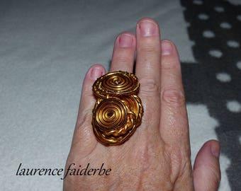 large ring big xxl gold aluminum ring xxl size 53