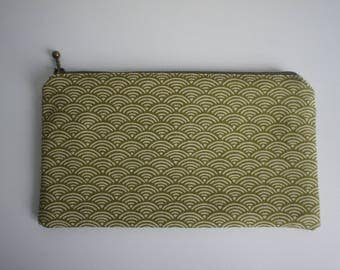 Japanese fabric clutch ,hand bag,bag,osaka