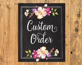 Custom print, Custom Design, Any size print, Personalized Print, Bespoke Print 8x10, 11x14, 16x20, 18x24, 24x36