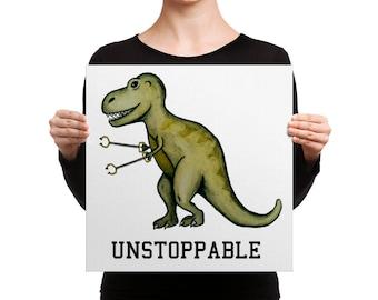 Unstoppable T-Rex Canvas