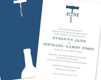 Wine Inspired Wedding Invitation | Vineyard Wedding Invitation | DIY Option Available | Invitation | RSVP | Info Card #41