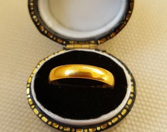 1934 Gold Band 22ct 4mm wide