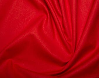 """Red - Extra Wide Cotton Sheeting Fabric 100% Cotton Material - 239cm (94"""") wide"""