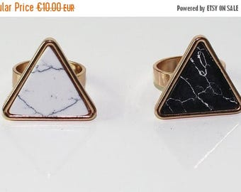 On Sale Geometric marble ring