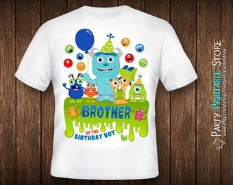Birthday Brother Shirt, Monsters Inc Birthday Shirt, Monsters Inc Party Shirt, Monster Iron On, Monster Birthday Shirt Family
