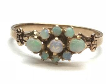 10k Rose Gold Opal Cluster Ring