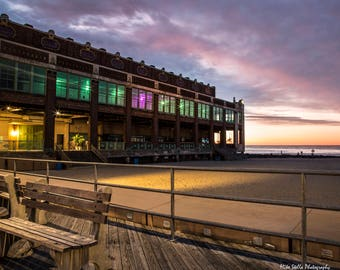 Asbury Convention Hall, View From The Boards, Asbury Park Boardwalk, NJ, 8x10 Inch Print