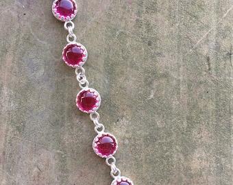 Ruby cabochon bracelet