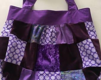 Handmade Purple Patchwork Shoulder Bag
