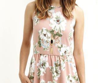 Pastel Floral Maxi Dress