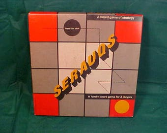 Serauqs Vintage 1961  Family Board Game of Strategy   8 to Adult