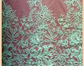 3yards Chantilly corded wedding Lace, Chantilly Lace Fabric, 59 inches Wide for Veil, Dress, Costume, Craft Making, 3 yards/piece