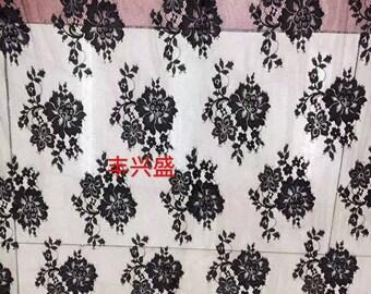 "Chantilly Lace ,eyelash Lace Fabric,flower pattern lace  ,off  White Chantilly Lace fabric  for wedding 59"" width-7262"