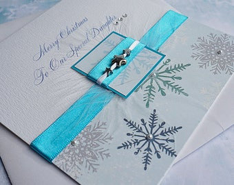 Personalised Christmas Card 'Winter Treats' for Mum, Dad, Sister, Aunt, Gran etc with envelope