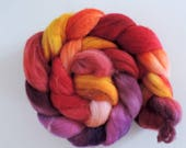 Merino Nylon,Hot Summer Night,handbemalte Fasern zum Spinnen,superwash, Sock Blend,100g Kammzug