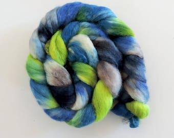 BFL sw Nylon,Perlentaucher, handgefärbte Fasern zum Spinnen,100g Kammzug, Sock Blend